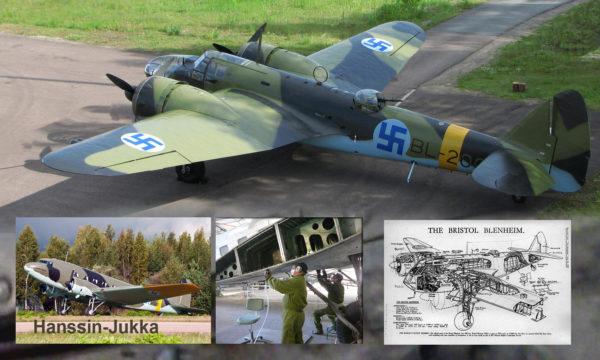Ilmasotakoulun Killan historiallisten koneiden kuva